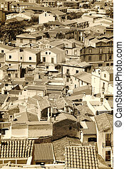 italian city - a picturesque italian city seen from a high...