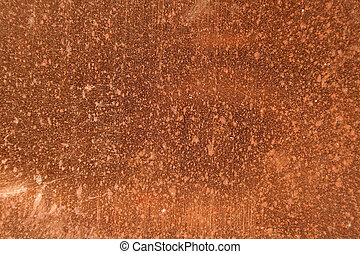 Copper Spots - A a closeup of a dirty copper sheet.
