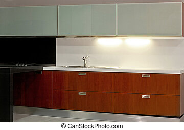 Kitchen elegant - New modern kitchen with metal and glass