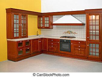 madeira, cozinha