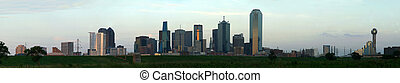 Downtown Dallas, Texas - A section of buildings in the...