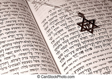 Judaica - Hebrew Bible and a Chai Necklace - Juadica Related