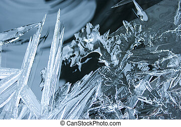 Ice on Water - Thin ice on water