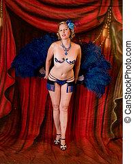 Burlesque Dancer - Burlesque performer shot in a studio...