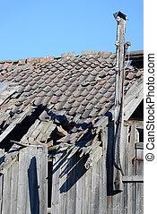 Decrepid Barn Detail - An old amandoned barn in rural Norway