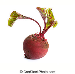 beet isolated on white