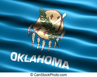 State flag: Oklahoma - Computer generated illustration of...