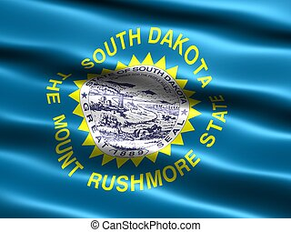 State flag: South Dakota - Computer generated illustration...