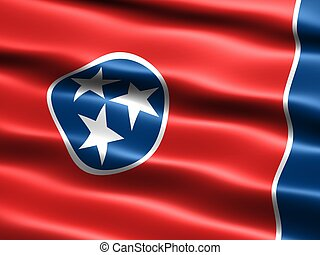 State flag: Tennessee - Computer generated illustration of...