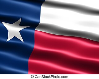 State flag: Texas - Computer generated illustration of the...