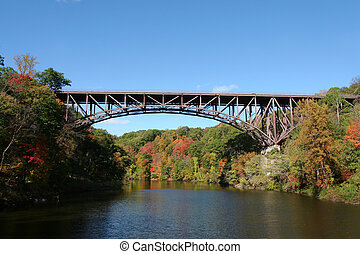 Popolopen Bridge between Fort Montgomery & Bear Mountain,...