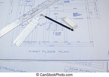 Building plans - Set of building plans for a custom house...