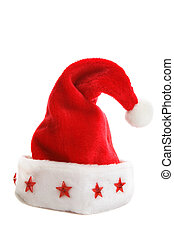Christmas Santa Hat - A Santa hat with red stars decorating...