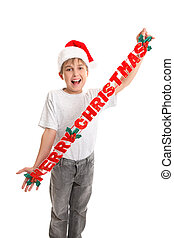 Child with Merry Christrmas