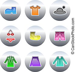 clothing buttons - collection of clothing and apparel...