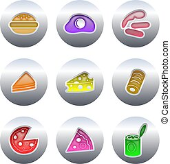 food buttons