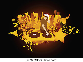 DJ SANTA - made from my photo, great for your design and art...