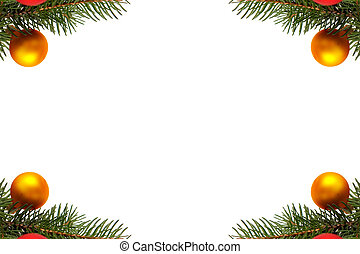 Christmas tree decorations - Grenn spruce branches with...