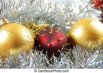 christmas balls - three christmas balls