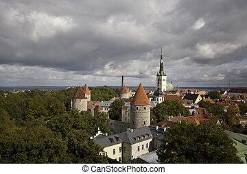 The medieval town of Tallinn, Estonia