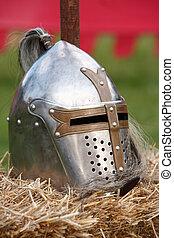 Knight Helmet - A knight Helmet in a medieval festival