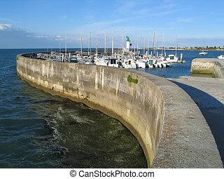 Marina in Ile de Re - A marina in Ile de Ré, France