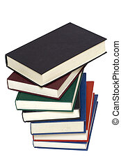 Old books - Old colorful book stack isolated on a white...