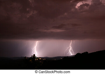 Lightning Strike in Auvergne France