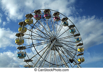 ferris wheel on a sky background