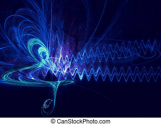 abstract soundwave - abstraction of music symbol and sound...
