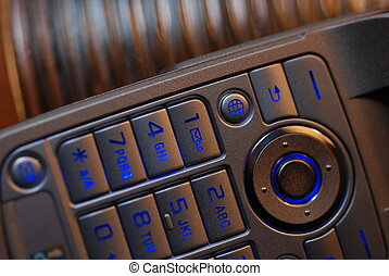 Cell Phone - Close up of the keyboard on a cell phone
