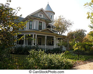 Old Style Victorian House - Old Style Gray Victorian house...