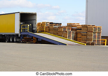 Loading bay - Semi truck on loading dock
