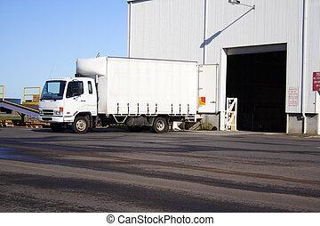 pequeño, camión