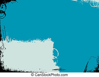 turquise dream - grunge turquoise background with room for...