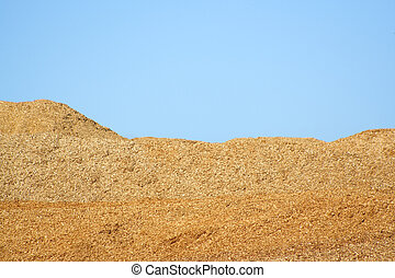 Wood chips - Pile of wood chips