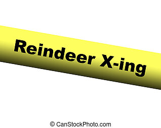 Yellow Reindeer Crossing Barrier Tape