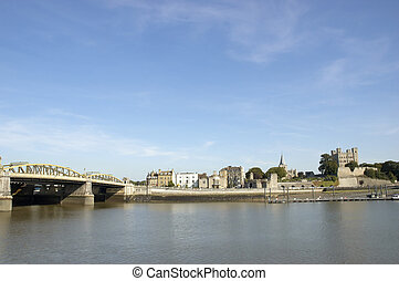 Medway Bridge - A view of the Medway Bridge in Rochester...