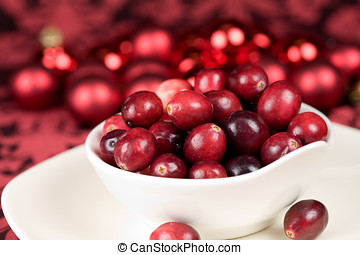 Delicious cranberries - Delicious bowl of red cranberries...