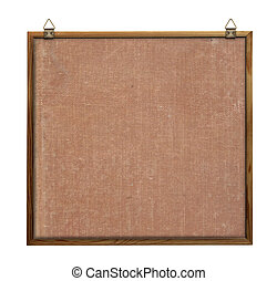 noticeboard with hangers isolated on pure white background