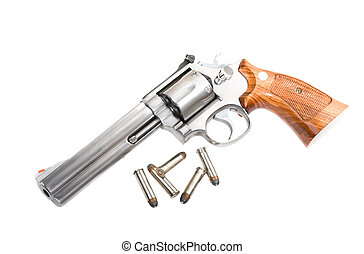 Magnum revolver - A 357 magnum revolver with bullets...
