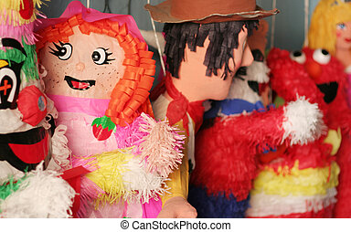 Piniata - A few piniatas await their fate at a store in...