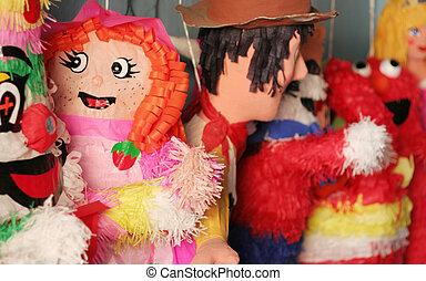 Piniata - A few piniatas await their fate at a store in...