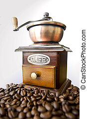 coffe - Old-fashioned coffee grinder