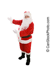 Santa Presents - Full body view of Santa Claus with his arms...