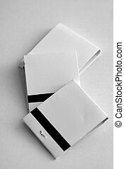 match books - three blank whie match books on white...