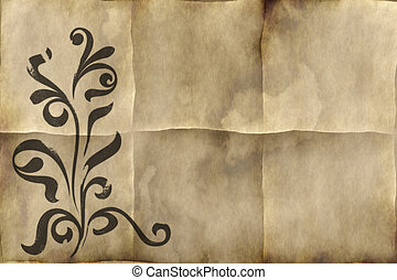 old paper - background image of old paper or parchment with...