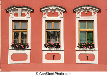 Old town windows - Decorative windows in Czech Republic -...