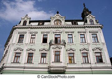 Old town building - City building in Kromeriz, Zlin region,...