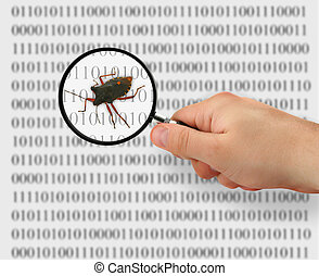 concept of searching for a bug, binary code is abstract,...